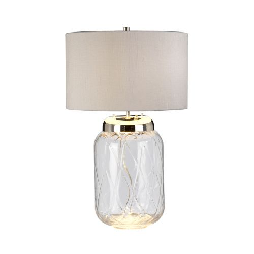 Sola 2 Light Table Lamp Polished Nickel Glassware Clear Quintessentiale QN-SOLA-TL-L