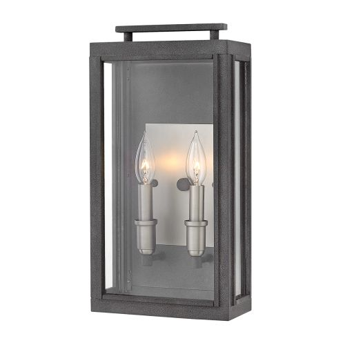 Sutcliffe 2 Light Wall Lantern Antique Nickel IP44 Quintessentiale QN-SUTCLIFFE-M-AZ
