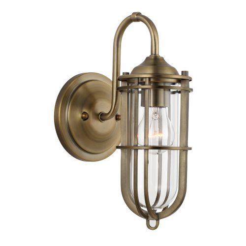 Urban Restoration 1 Light Wall Bracket Dark Antique Brass IP44 Quintessentiale QN-URBANREST1