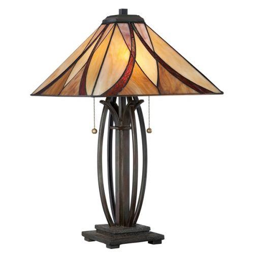 Quoizel QZ/ASHEVILLE/TL Asheville 2Lt Tiffany Valiant Bronze Table Lamp