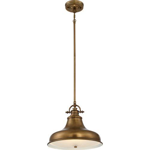 Quoizel Emery 1 Light Weathered Brass Pendant QZ/EMERY/P/M WS