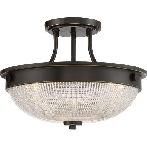 Quoizel Mantle 2Lt Semi-Flush Ceiling Light Palladian Bronze QZ/MANTLE/SF PN
