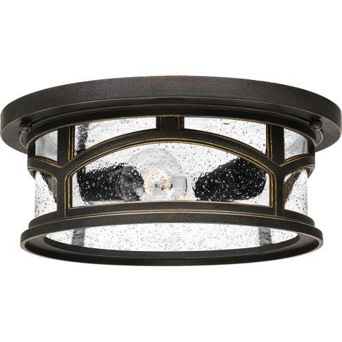 Quoizel Marblehead 2Lt Flush Ceiling Light Palladian Bronze QZ/MARBLEHEAD/F
