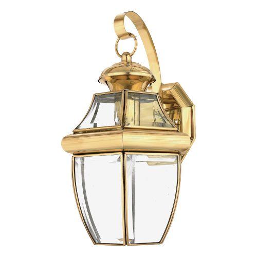 Quoizel Newbury Medium Outdoor Wall Lantern Polished Brass ELS/QZ/NEWBURY2/M