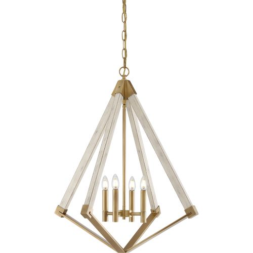 Quoizel View Point 4Lt Chandelier Weathered Brass QZ/VIEWPOINT/L