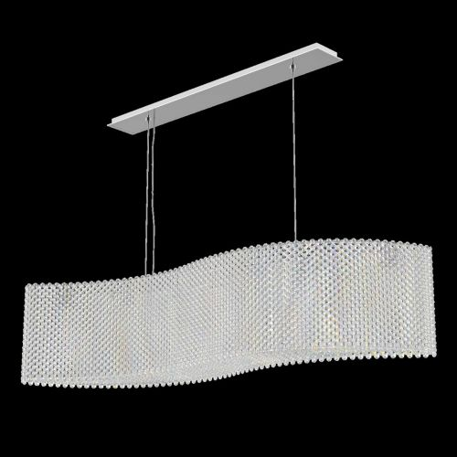Schonbek RE4821EA Refrax Spectra Crystal 21 Light Pendant Stainless Steel Frame