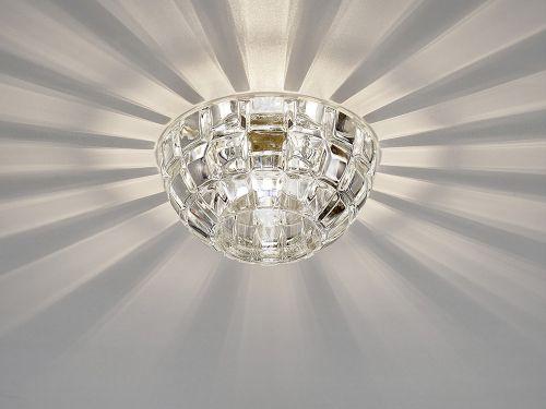 Diyas IL31840CH Ria G9 Dome Downlight Polished Chrome Crystal 10.5cm Diameter
