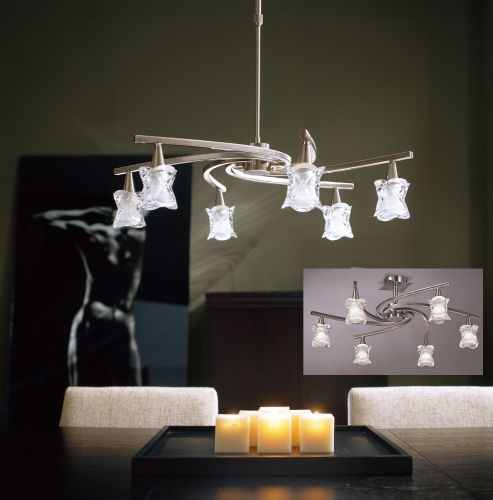 Mantra Rosa Del Desierto 6 light ceiling pendant m0033