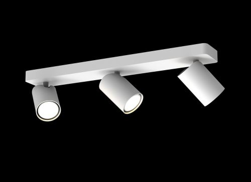 Mantra Sal Linear Bar 3 Light Spotlight GU10 Matt White M6281