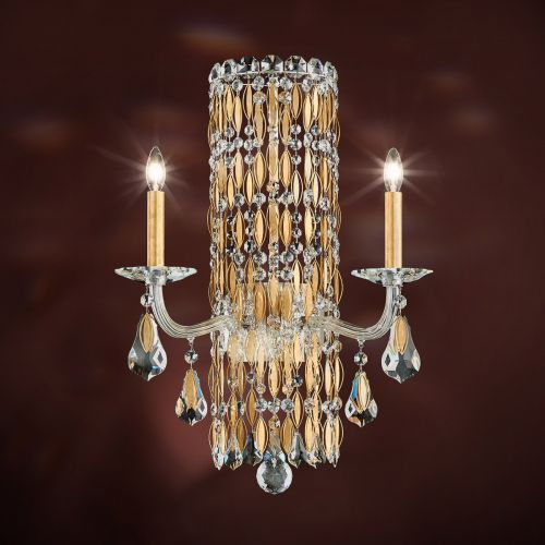Schonbek Sarella 2 Light Wall Light Heirloom Gold Crystal Heritage Crystal RS8332E-22H