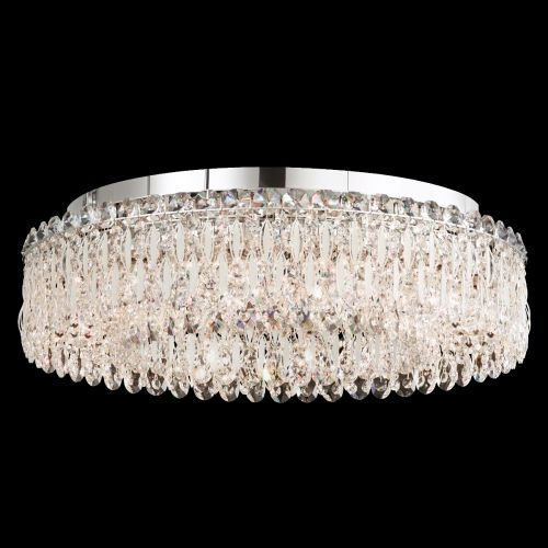 Schonbek Sarella RS8347 12 Light White Spectra Crystal Flush Ceiling Fitting