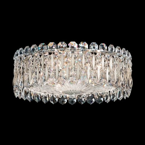 Schonbek Sarella RS8348 3 Light Flush Antique Silver Swarovski Crystal Ceiling Fitting
