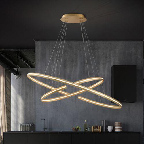 Schuller Elipse 652043 LED Large Ceiling Pendant Gold Frame