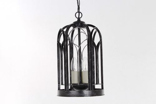 Impex SMRRV00001/ABLK Villa 3Lt Antique Black Ceiling Indoor Lantern