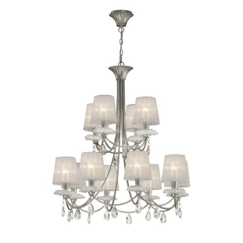 Mantra M6300 Sophie Extra Large 12 Light Silver Chandelier