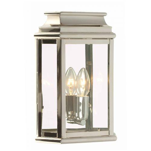 Elstead ST MARTINS-PN 1Lt Solid Brass Polished Nickel Wall Lantern