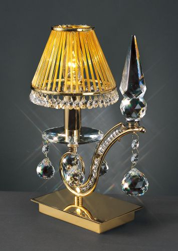 Diyas IL30020 Tara Table Lamp 1 Light French Gold Crystal