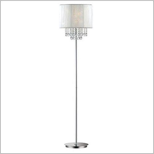 Ideal Lux 068275 Opera Crystal Single Light Floor Lamp Polished Chrome Frame