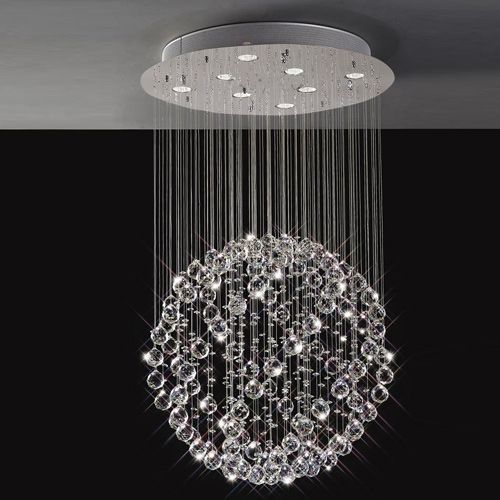 Diyas  Colorado 8 Light Pendant Medium Sphere  Polished Chrome/Crystal IL30781