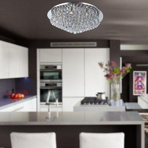 Impex Parma CFH011025/12/CH 12 Light Chrome Flush Ceiling Fitting