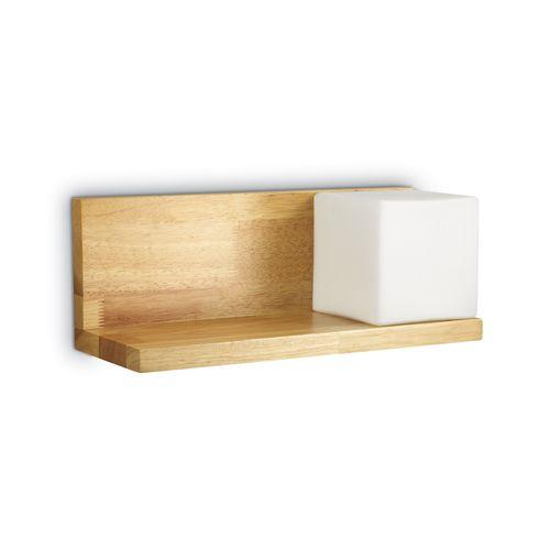 Ideal Lux 180090 Toledo 1Lt Wood Shelf Wall Light