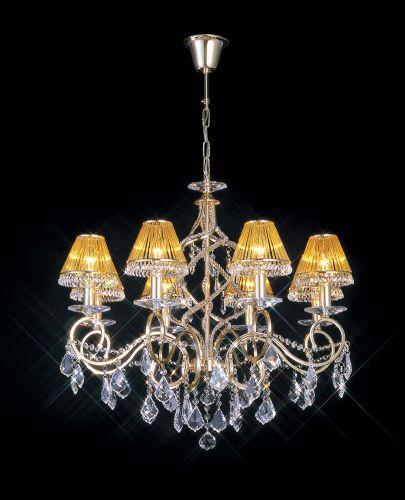 Diyas IL30328 Torino Pendant 8 Light French Gold Crystal
