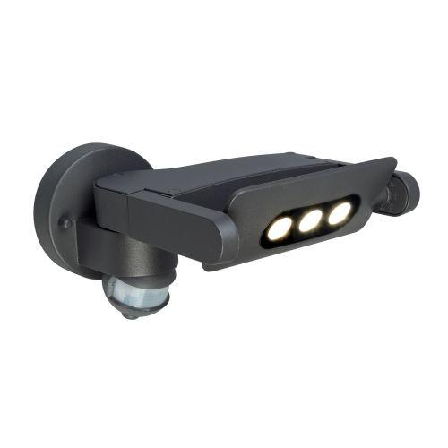 Elstead SIGMUND 3-PIR Sigmund 3Lt LED Graphite Grey PIR IP54 Outdoor Wall Light
