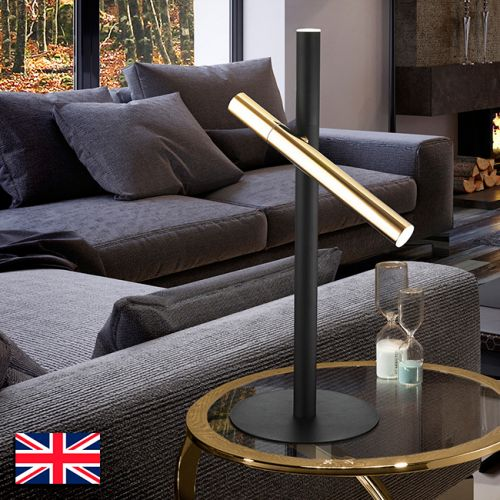 Schuller Varas 373579UK LED Gold and Black Table Lamp