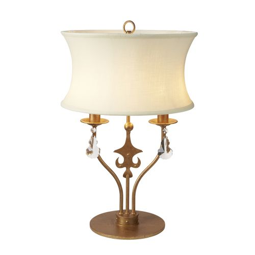 Elstead Windsor Table Lamp Gold Patina ELS/WINDSOR/TL