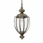 Ideal Lux 005911 Norma Single Light Indoor Hanging Lantern Pendant Antique Brass Finish