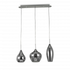 Ideal Lux Soft Chandelier 3 Light Smoked IDE/111865