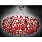 Metal Lux Astro 28 Light Pendant Fitting Glass Spirals 206.610.04