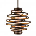 Ceiling Pendant Light Bronze/Gold Leaf Corbett Vertigo 113-42-CE