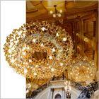 Metal Lux Astro 28 Light Amber Glass Pendant 206.610.06