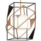 Ceiling Pendant Light Bronze / Gold Leaf Troy Cubist F6085-CE