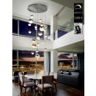 Schuller Sphere 793960GB LED 27 Light Ceiling Cluster Pendant 5 Metre Drop Multicoloured Bluetooth Dimmable