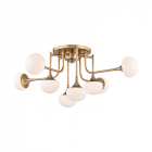 Semi Flush Ceiling Light Aged Brass Hudson Valley Fleming 4708-AGB-CE