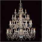 Impex CP06033/40/CH Modra 40Lt Polished Chrome Crystal Chandelier