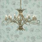 Interiors 1900 Penn 12 Light Chandelier Brass CA7P12BB