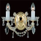 Impex Maria Therese 2Lt Crystal Wall Light CP00150/02/WB/G Gold Finish