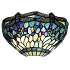 Interiors 1900 Tiffany Dragonfly Blue Wall Light 64102