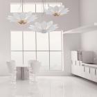 Kolarz Fiore 7 Light Ceiling Pendant Leaf Silver 5231.80650