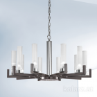 Kolarz Raggio 10 Light Ceiling Chandelier Brunito Brushed 6009.81060