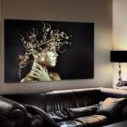 Mujer Dorada Printed Glass Wall Art