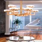 Kolarz Solis 10 Light Ceiling Chandelier Gold Leaf 6020.81030