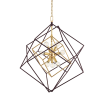 Hudson Valley 9 Light Pendant Aged Brass Roundout 1222-AGB-CE