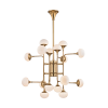 Multi-Arm Chandelier 16 Light Aged Brass Hudson Valley Fleming 4716-AGB-CE