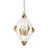 Pendant Light Aged Brass Hudson Valley Lyons 4617-AGB-CE