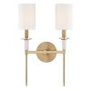 Twin Wall Light Aged Brass Hudson Valley Amherst 8512-AGB-CE