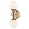 Wall Light Aged Brass Hudson Valley Astoria 3302-AGB-CE